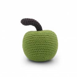 Apple - baby rattle 100% organic coton