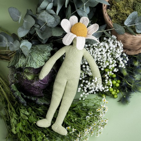 Camille Chamomile - Flower doll small 100% organic cotton