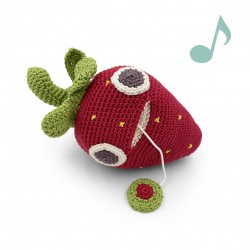 Georges Strawberry - music box 100% organic cotton