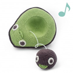 Mommy Avocado and her baby seed - music box 100% organic cotton