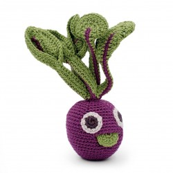 Betty Beetroot  - baby rattle 100% organic coton