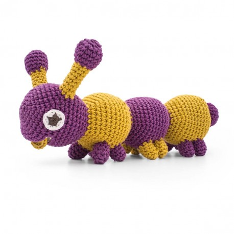 Chester Caterpillar - vibrant toy 100% organic cotton