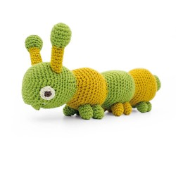Chiara Caterpillar - vibrant toy 100% organic cotton