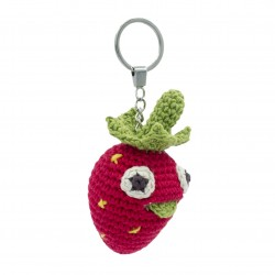 Ally Strawberry - key chain 100% organic cotton