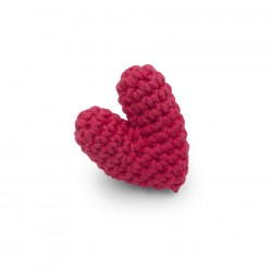 Red pin heart - accessorry 100% organic cotton