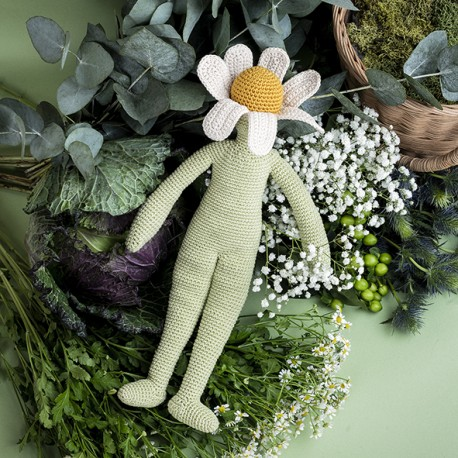 Camille Chamomile - Flower doll medium 100% organic cotton