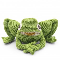 Fripouille Frog - toy 100% organic coton